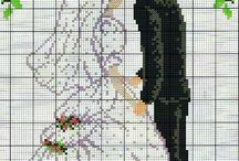 huwelijk/married borduren