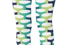 Designer Leggings / Unique and cool designer leggings by squeaychimp.com