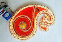 art / kundan and acrylic rangoli