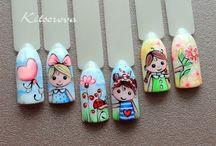 muñecas uñas