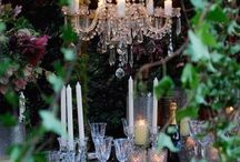 chandeliers and vines
