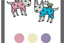 Södersvalas paletter / Här hittar du våra egna färgpaletter från våra illustrationer.