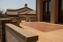 Outdoor Patios Colored With Davis Colors Concrete Pigments
