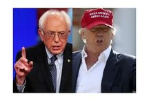 Fashion clash of titans: Donald Trump vs. Bernie Sanders. / 2016 Male fashion advice for presidential candidates. From short hairstyles to leather backpack, everything they need to know to win your vote!