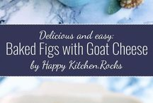 baked figs w goat cheese