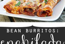 Bean Burritos...what's in the wrap? / Board for bean burrito recipes.