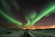 Northern lights / The Northern Lights are a natural phenomenon often seen in Iceland.