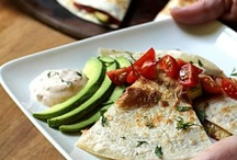 """Quesadillas / Quesadillas are the new """"go-to"""" fast food.  With just a few ingredients, you can whip a tasty and satisfying meal in minutes.  Kid friendly!"""
