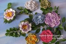 As minhas flores em crochet