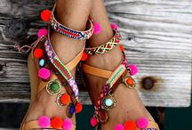chaussures pompons