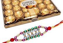 Rakhi with Chocolates / This year celebrate rakhi with our unique combo of rakhi with chocolates.