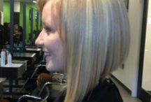 One Length Cuts-Above the Shoulder- Straight and curly styles / Triangle cuts, square cuts, and round cuts