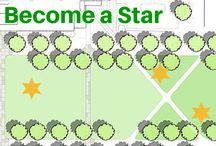 Become A Star In Your Community / Your community is important. Design a space that works for everyone. We believe there should be an area for all; from dog parks, playgrounds, shelter, shade, grills, bike racks to outside fitness... Plan your outdoor space for everyone and become a star!