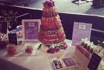 Macaron Tower / Our Macaron towers in all sorts of different colour combos look amazing and are a quirky alternative to a wedding cake!