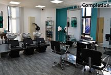 EKC - Hair and Beauty Academy / Full design, fit out and refurbishment of new hair salon and beauty academy at East Kent College in Dover, Kent.