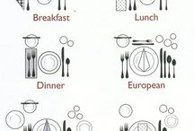 Etiqueta .Como arrumar a mesa .