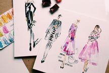 Fashion Illustration / #fashion #sketch #watercolor #fashionillustration