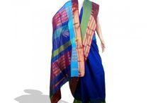 Maheshwari Sarees / Maheshwari sarees originate from Madhya Pradesh, India. They are Cotton Silk Sarees. Visit www.artsyindia.com to browse through latest collection of Maheshwari sarees.