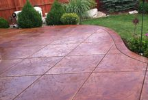 Stain patio