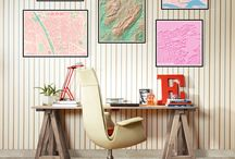 Mapas Decoración / Ideas e inspiración para decorar tu casa con mapas.