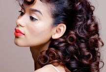 Sets / Roller setting beautiful curls