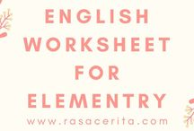 English Workaheet For Elementry