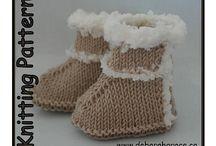 Baby Uggs Knitting Pattern