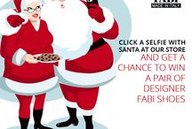 Selfie with Santa / #Click. #Share. #Win. Participate in #SelfieWithSanta and Pair of #Designer #Shoes worth Rs. 20,000 to be won!! Get ready to take part in the most exciting contest ever with Fabi.  Where to find him : N-13, GROUND FLOOR, SOUTH EX - 1, New Delhi  For complete details, please visit : http://on.fb.me/1GOlTVx