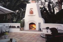 Outdoor Fireplaces and Patio Chimneys / Outdoor fireplaces and patio chimneys designed and built by San Diego masonry contractor Paul Walker of Custom Masonry & Fireplace Design  in San Diego California