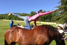 Yoga on a horse!