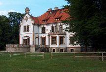 Targoszyn - Pałac / Pałac w Targoszynie powstał w w 1897 r. za sprawą barona Richthofena. II W.Ś. obiekt przetrwał w dobrym stanie do tego stopnia, że utworzono w nim zakład doświadczalny wraz z mieszkaniami dla pracowników. Obecnie pałac jest opuszczony i popada w ruinę.