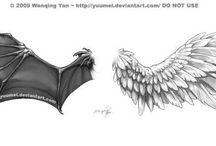 tatuajes ángel y demonios