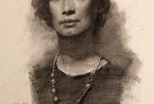 Pencil sketch human