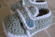 Vauvan tossut / Vauvan tossujen virkkaus- ja neulontaohjeita