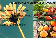 Motto Monat / Schöne Sprüche für den Monat