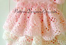 vestidos crochet bebe