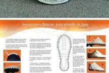 Связанная крючком обувь