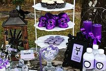 Black and Purple Halloween Party Ideas / by Cindy Bustle