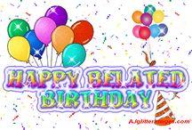 Happy Belated Birthday /  LIKE MY WEBSITE