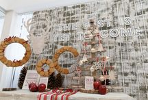 Decor for the Holidays / Interior decor. Furniture, flowers, accessories.