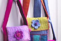 Purses and felt decorations