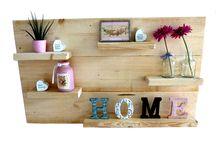 Decoratiebord Hout / Wanddecoratie bord bouwpakket bij xsteigerhout te bestellen
