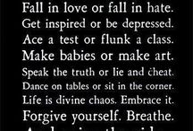 Quotes to live by!