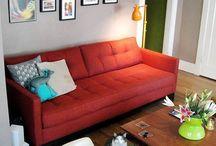 kırmızı koltuk dekorasyon