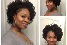 Shorter Sister lock style / Short styles include from starter locs, ear and chin length