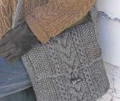 Dianne's knitted bag