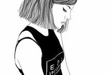 Black white drawing (tumblr)