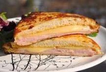 Sendviče, topinky,aj., horká snídaně