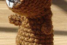 Wesoła twórczość własna / Things made by me; crochet; amigurumi; cross stitch