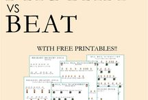 For music teaching / Free printable a and instructions